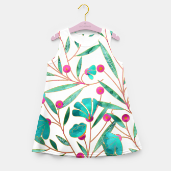 Thumbnail image of Turquoise Floral Girl's Summer Dress, Live Heroes