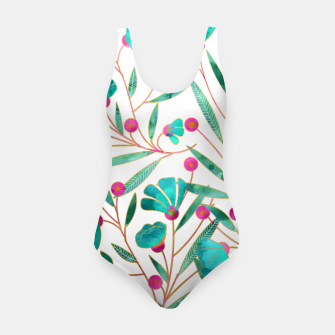 Thumbnail image of Turquoise Floral Swimsuit, Live Heroes