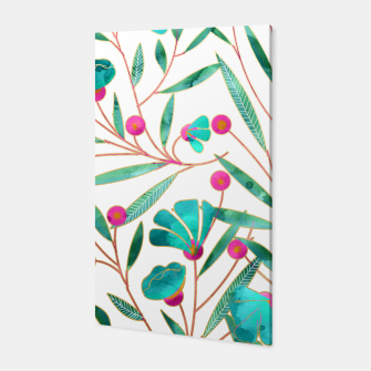 Thumbnail image of Turquoise Floral Canvas, Live Heroes