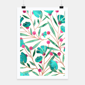 Thumbnail image of Turquoise Floral Poster, Live Heroes