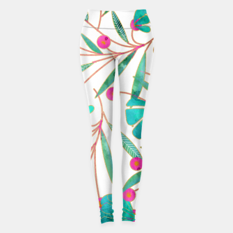 Thumbnail image of Turquoise Floral Leggings, Live Heroes