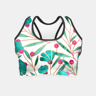 Thumbnail image of Turquoise Floral Crop Top, Live Heroes
