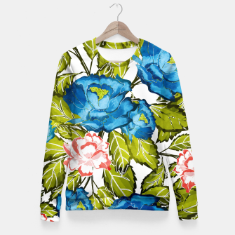Thumbnail image of Indigo Bloom Fitted Waist Sweater, Live Heroes