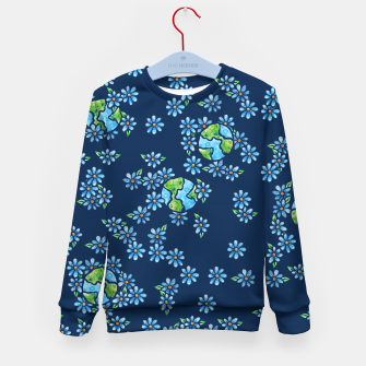Thumbnail image of Earth Day  Kid's Sweater, Live Heroes