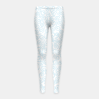 Thumbnail image of Swirls and Curls Girl's Leggings, Live Heroes