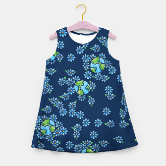 Thumbnail image of Earth Day  Girl's Summer Dress, Live Heroes