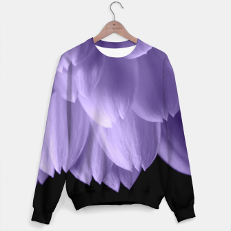 Thumbnail image of Ultra violet purple flower petals black Sweater, Live Heroes