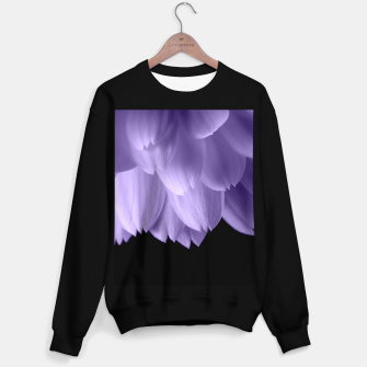Thumbnail image of Ultra violet purple flower petals black Sweater regular, Live Heroes