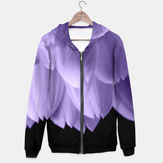 Thumbnail image of Ultra violet purple flower petals black Hoodie, Live Heroes