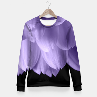 Thumbnail image of Ultra violet purple flower petals black Fitted Waist Sweater, Live Heroes