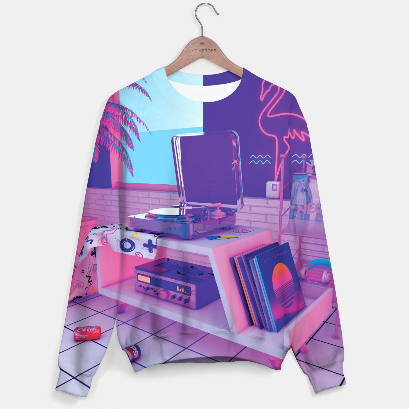 Image of spinningwave Sweater - Live Heroes