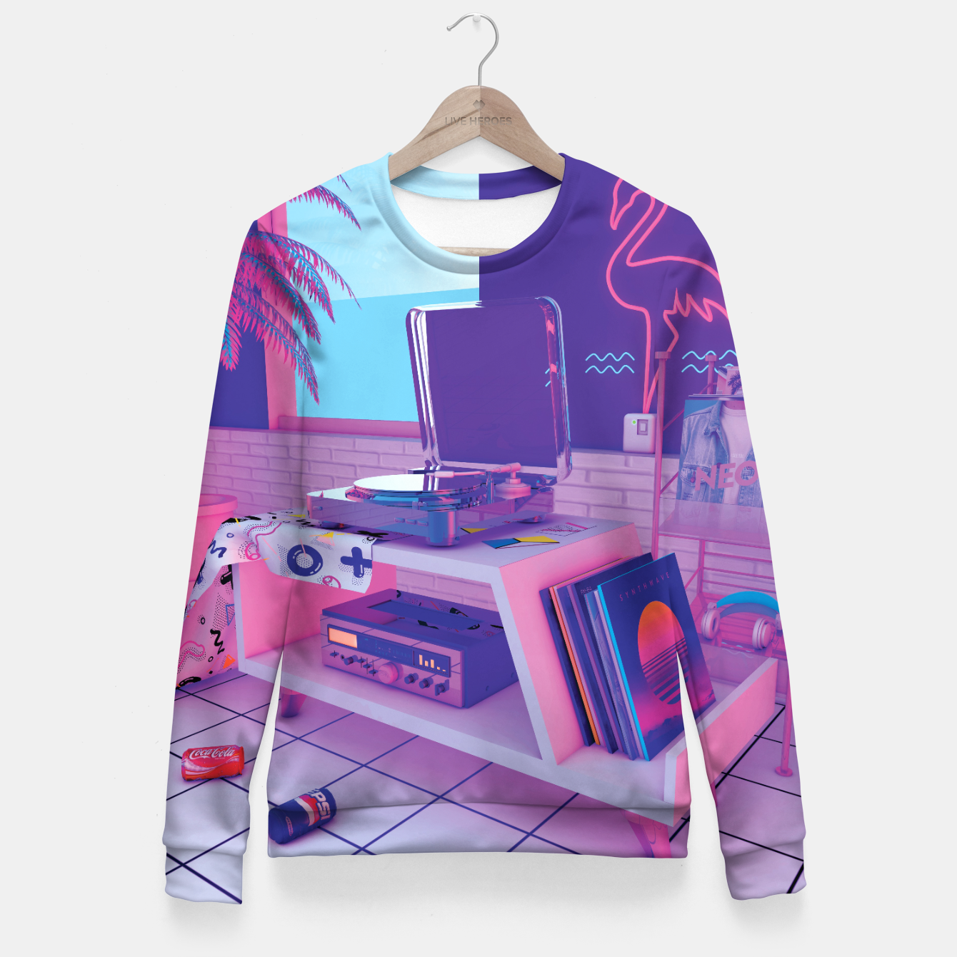 Image of spinningwave Fitted Waist Sweater - Live Heroes