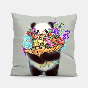 Thumbnail image of Flowers For You Pillow, Live Heroes