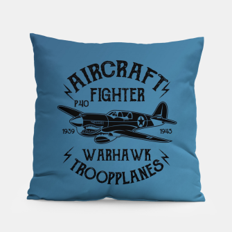 Thumbnail image of Aircraft Fighter Hawk Pillow, Live Heroes
