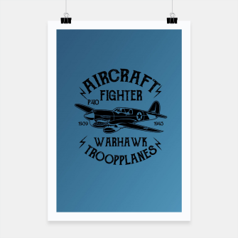 Thumbnail image of Aircraft Fighter Hawk Poster, Live Heroes