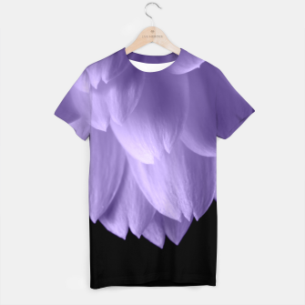 Thumbnail image of Ultra violet purple flower petals black T-shirt, Live Heroes