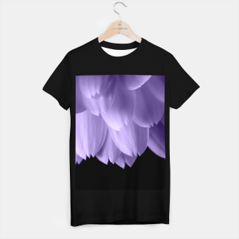 Thumbnail image of Ultra violet purple flower petals black T-shirt regular, Live Heroes