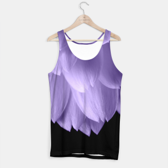 Miniaturka Ultra violet purple flower petals black Tank Top, Live Heroes