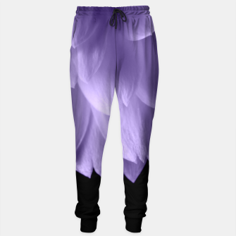 Thumbnail image of Ultra violet purple flower petals black Sweatpants, Live Heroes