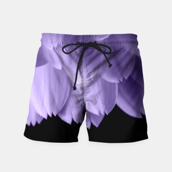 Thumbnail image of Ultra violet purple flower petals black Swim Shorts, Live Heroes