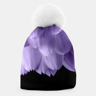 Thumbnail image of Ultra violet purple flower petals black Beanie, Live Heroes