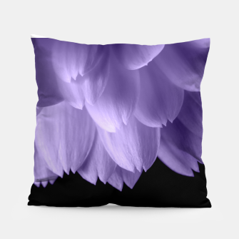 Thumbnail image of Ultra violet purple flower petals black Pillow, Live Heroes