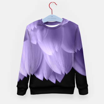 Thumbnail image of Ultra violet purple flower petals black Kid's Sweater, Live Heroes