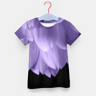 Thumbnail image of Ultra violet purple flower petals black Kid's T-shirt, Live Heroes