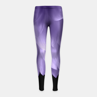 Thumbnail image of Ultra violet purple flower petals black Girl's Leggings, Live Heroes