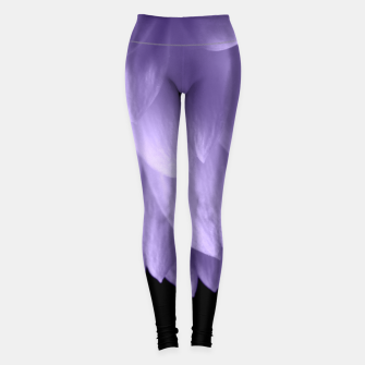 Thumbnail image of Ultra violet purple flower petals black Leggings, Live Heroes