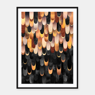 Thumbnail image of Feathered - Copper And Black Framed poster, Live Heroes