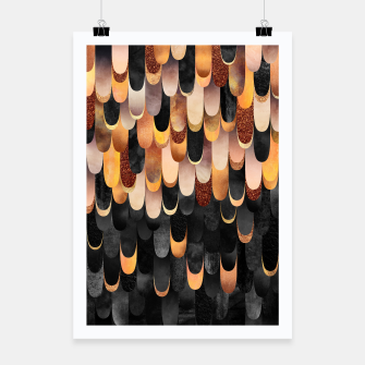 Thumbnail image of Feathered - Copper And Black Poster, Live Heroes