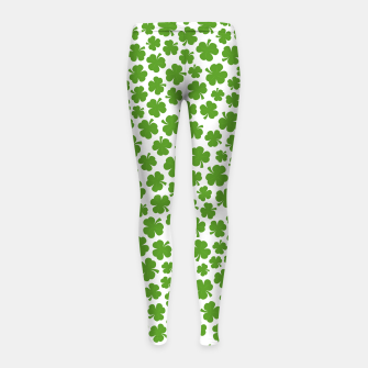 Thumbnail image of Shamrockadelic Girl's Leggings, Live Heroes