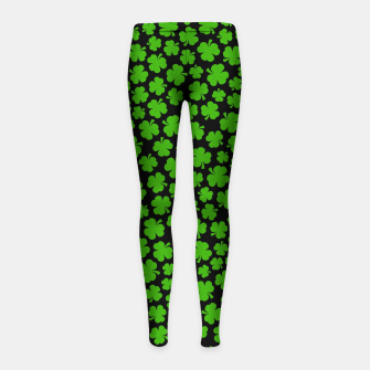 Thumbnail image of Shamrockadelic II Girl's Leggings, Live Heroes