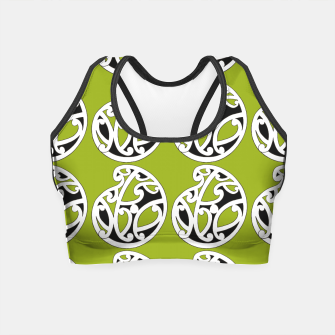 Thumbnail image of MAD HUE AOTEAROA Green Crop Top, Live Heroes