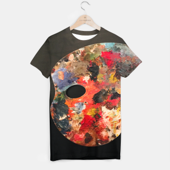 Thumbnail image of Painting_Palette_T-shirt_Black, Live Heroes