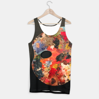 Thumbnail image of Painting_Palette_Tank_Top_Black, Live Heroes