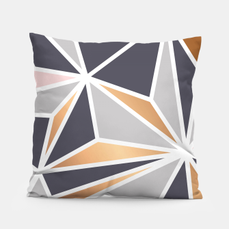 Miniatur Geometry Gold 047 Pillow, Live Heroes