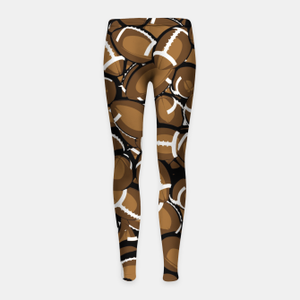 Thumbnail image of Football Season Girl's Leggings, Live Heroes