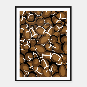 Thumbnail image of Football Season Framed poster, Live Heroes