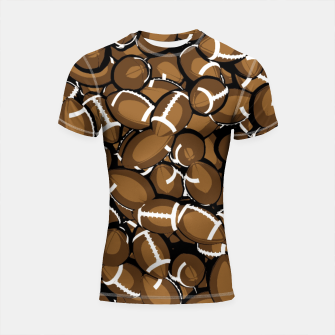 Thumbnail image of Football Season Shortsleeve Rashguard, Live Heroes