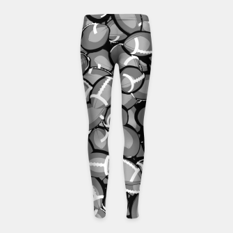 Thumbnail image of Football Season II Girl's Leggings, Live Heroes