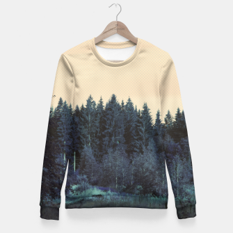 Blue forest Fitted Waist Sweater miniature