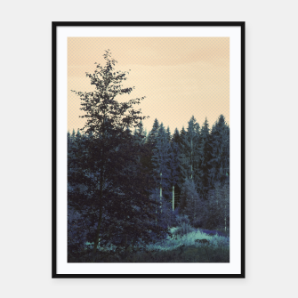 Thumbnail image of Blue forest Framed poster, Live Heroes