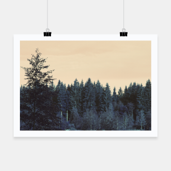 Blue forest Poster miniature