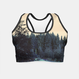Thumbnail image of Blue forest Crop Top, Live Heroes