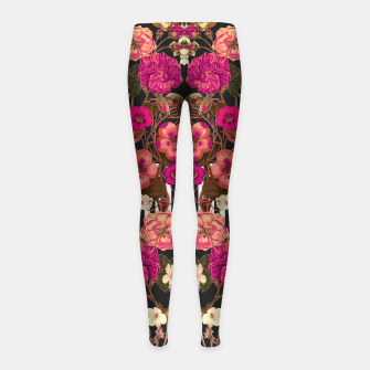 Miniatur Flora Crossings Girl's Leggings, Live Heroes