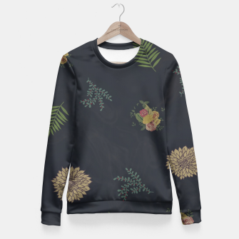 Thumbnail image of simple flowers Fitted Waist Sweater, Live Heroes