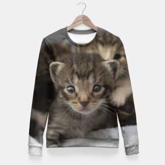 Miniatur Photo of a group of cuddly kittens Fitted Waist Sweater, Live Heroes
