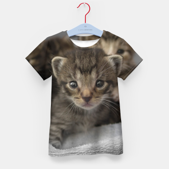 Miniatur Photo of a group of cuddly kittens Kid's T-shirt, Live Heroes